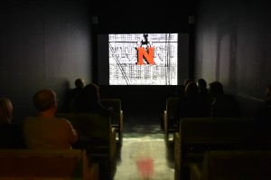 Type Motion exhibition, 2014. Cinema space at FACT Liverpool, Gallery 2