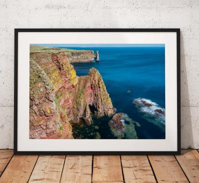 Scotland Landscape photo, Duncansby Heads, John o Groats, Scotland, Scottish Highlands, Seascape, Nature, Cliffs, Wall Art, House Decor