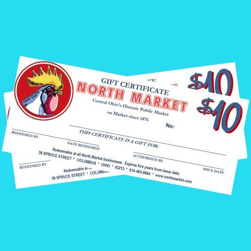 $20 Gift Certificates \u2013 North Market Columbus, Ohio