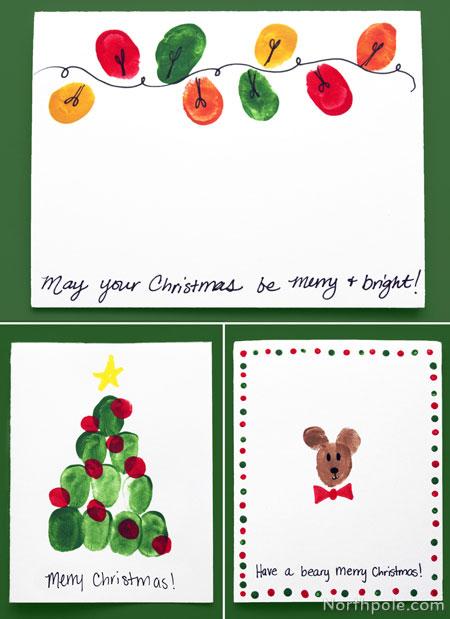 Craft Cottage - Easy Fingerprint Christmas Cards