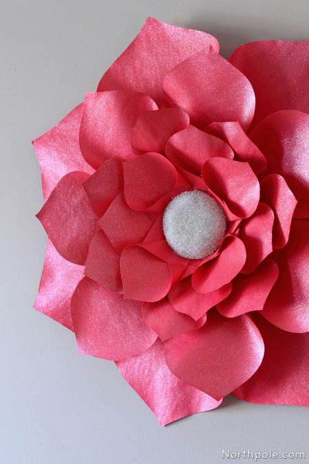 construction paper flower