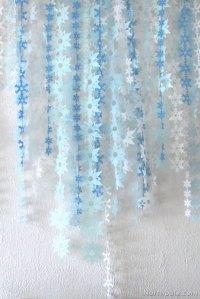 Tissue Paper Snowflake Garland