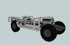 3D Model Tremor MUV on Suburban frame