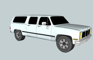 3D Model of 1986 Chevy Suburban