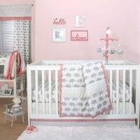 Grey Elephant and Triangle Dot 4 Piece Baby Crib Bedding ...