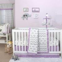 Grey Elephant and Chevron Patchwork 3 Piece Crib Bedding ...