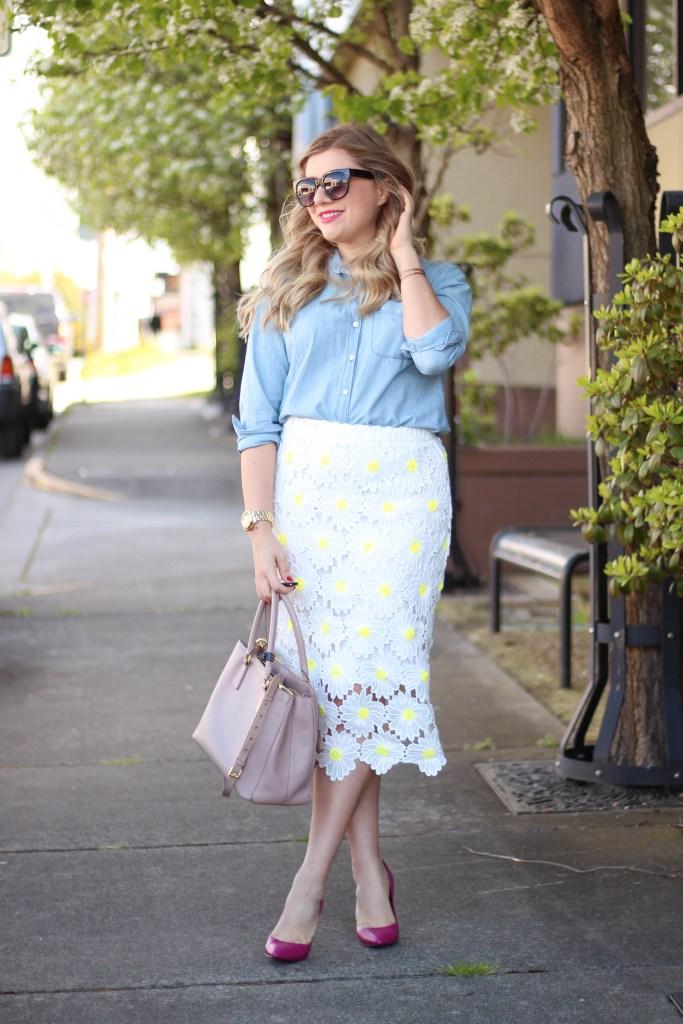 rachel parcell daisy skirt - rachel parcell collection