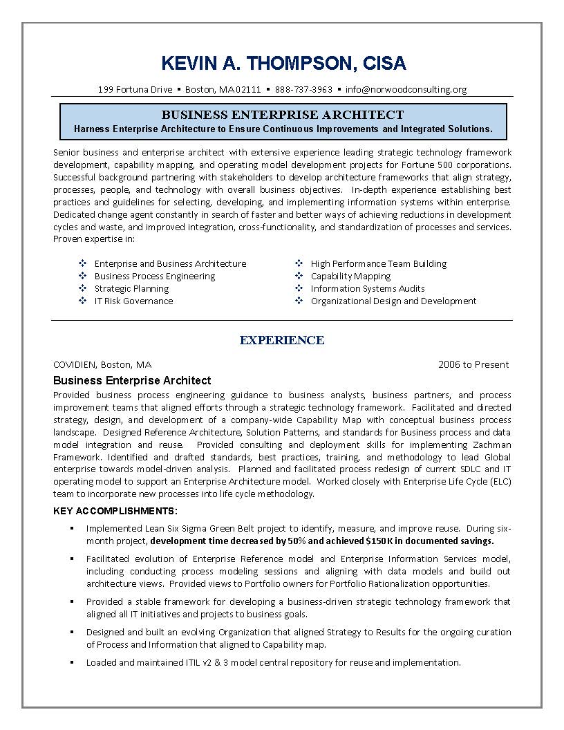 resume objective statements for architect