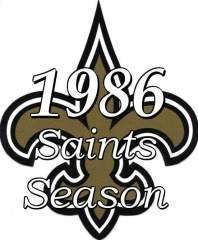 1986 New Orleans Saints NFL Season