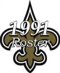 New Orleans Saints 1991 NFL Season Team Roster
