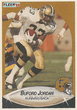 Buford Jordan of the 1990 New Orleans Saints