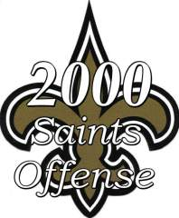 2000 New orleans Saints Offense