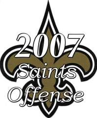 2007 New Orleans Saints Offense