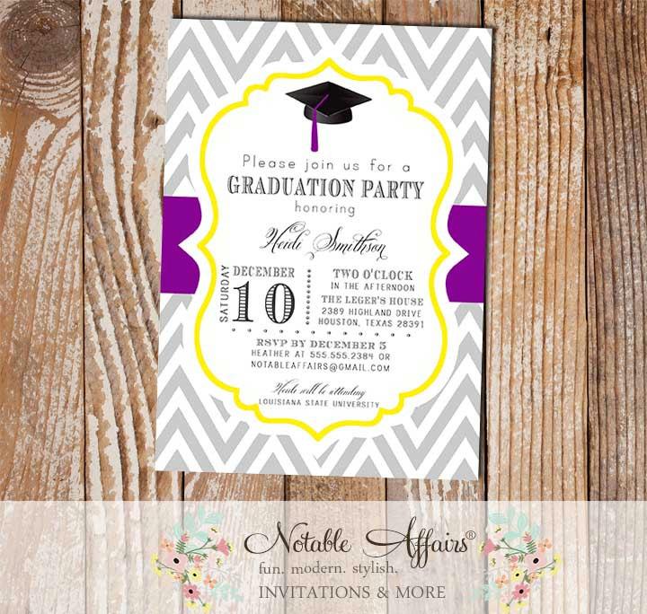 Graduation Party Senior College Graduation Invitation - Notable Affairs