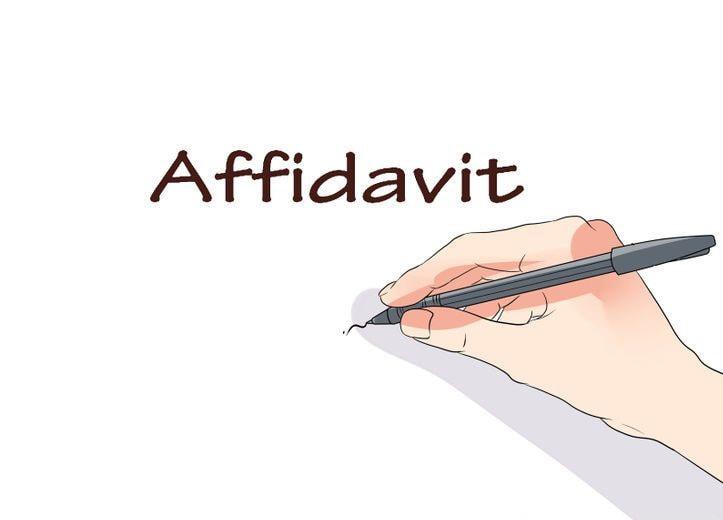 Signature and Name Affidavit - name affidavit form