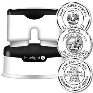 MaxLight X Official Round Notary Stamp