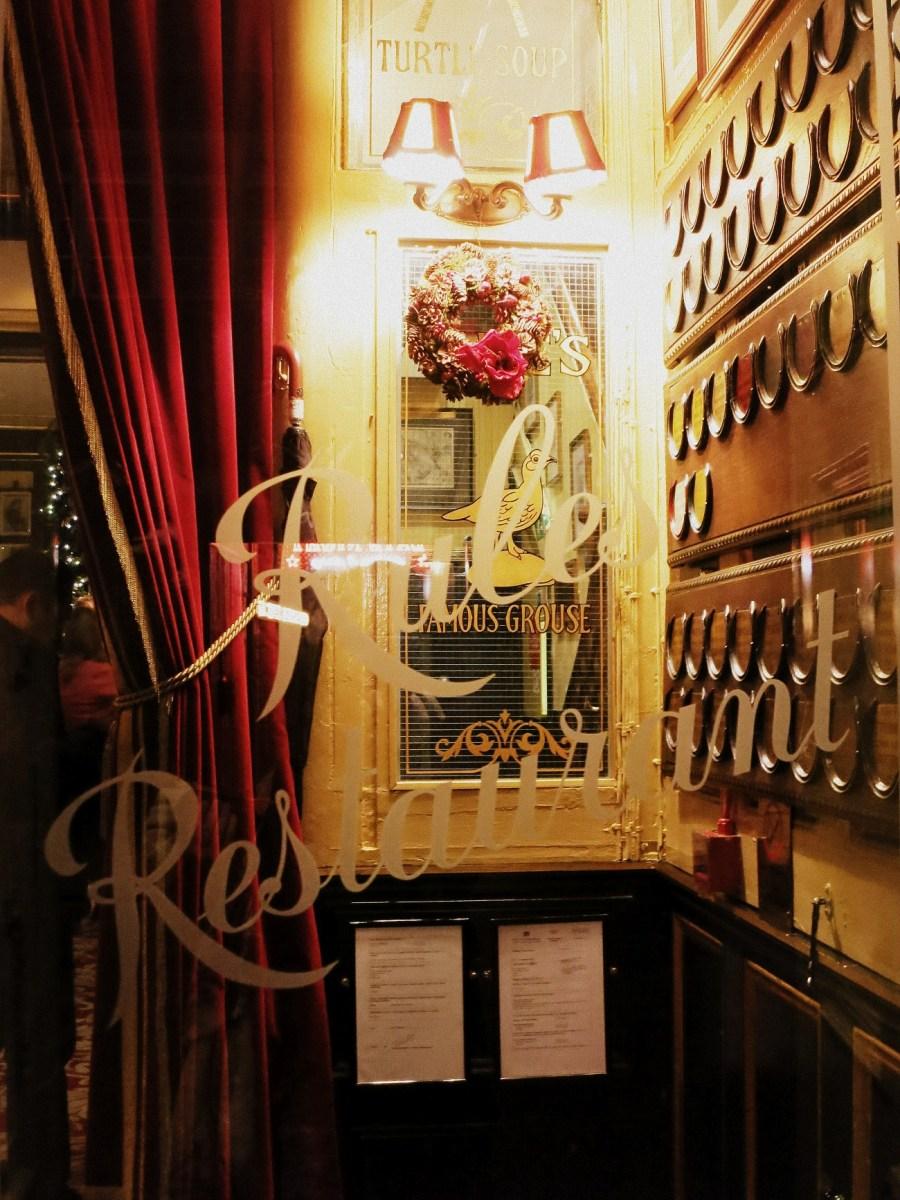 Notas desde el restaurante más antiguo de Londres