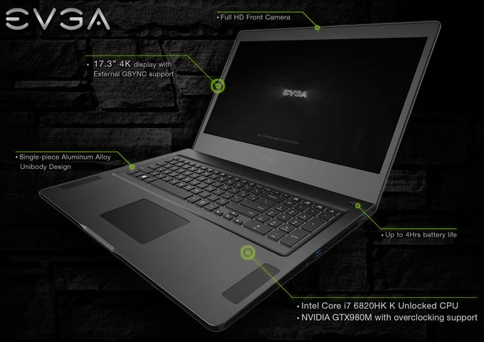 Team Sky Iphone Wallpaper Evga Announces Sc17 4k Gaming Laptop Notebookcheck Net News