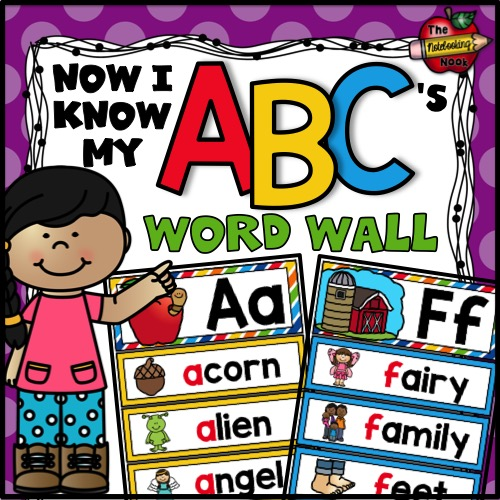 Now I Know My ABC's Word Wall
