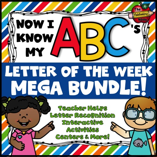 Now I Know My ABC's Letter of the Week Mega ENDLESS Bundle
