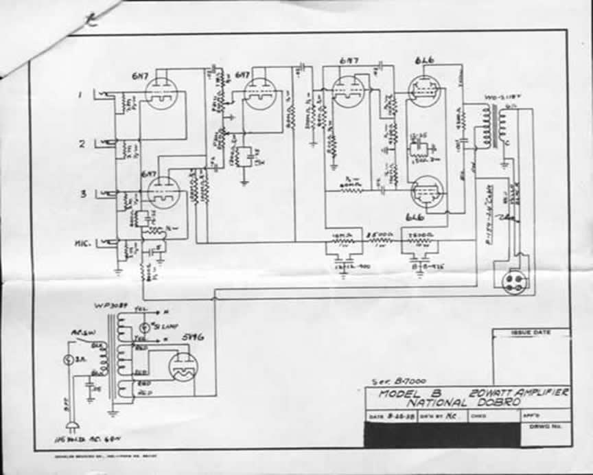 national 1224 amp schematic