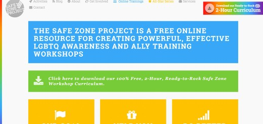 the safe zone project homepage