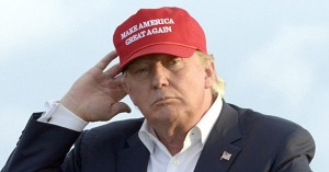 Republican presidential candidate Donald Trump's red hat suggests he thinks America is not a great country.