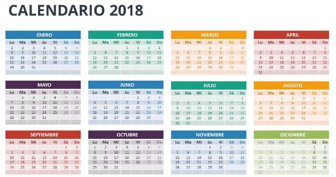 VENEZUELA Calendario de días feriados y bancarios de 2018