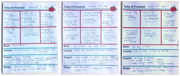 Preschool Lesson Planning Template - Free Printables - No Time For - preschool lesson plan template