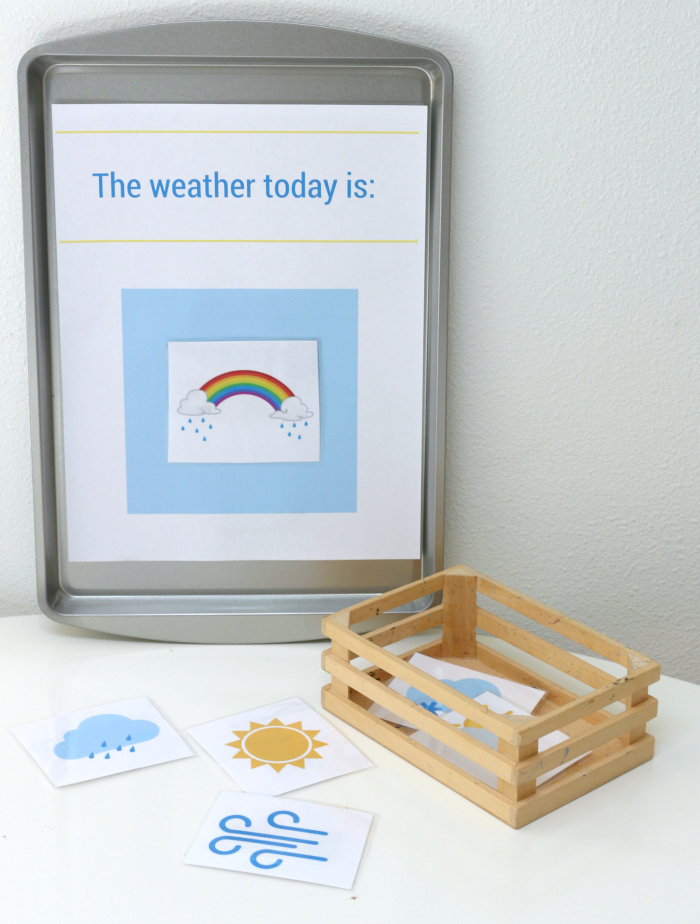 Printable Weather Station for Preschool - No Time For Flash Cards