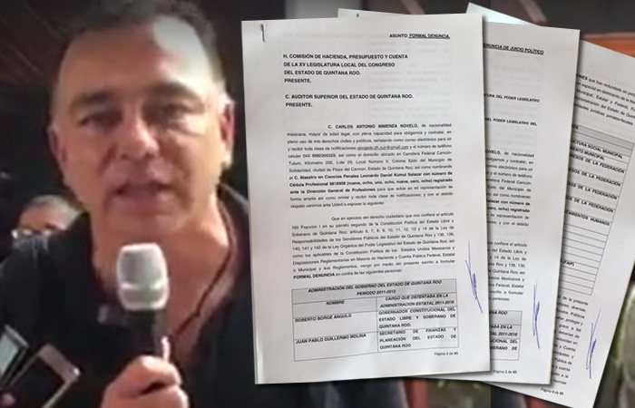Presentan formal denuncia contra ex gobernador Roberto Borge y Mauricio Góngora