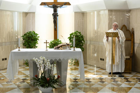 Pope celebrates the holy Mass in Santa Marta