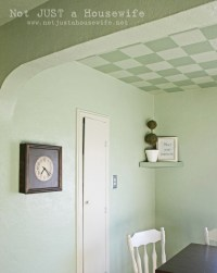 Guest Post: Painted Checkered Ceiling | Centsational Style