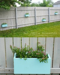 Planter Boxes on the Fence! - Stacy Risenmay