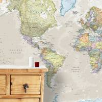 giant classic world map mural by maps international ...