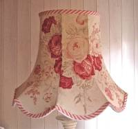 extra large standard roses linen lampshade by rosie's ...