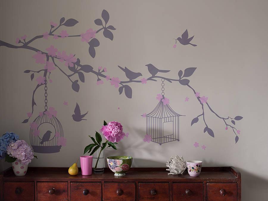Bird Cage Wall Stickers By Bambizi Notonthehighstreetcom