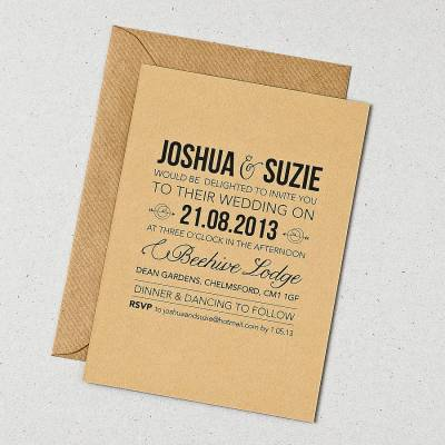 rustic style wedding invitation by doodlelove ...
