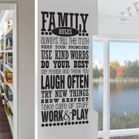 'family rules' wall sticker decal by snuggledust studios ...