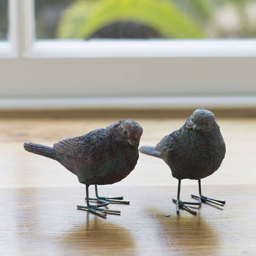 resin bird ornaments