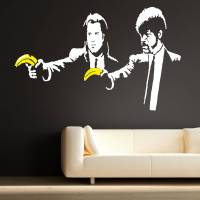 banksy pulp fiction wall stickers by the binary box ...