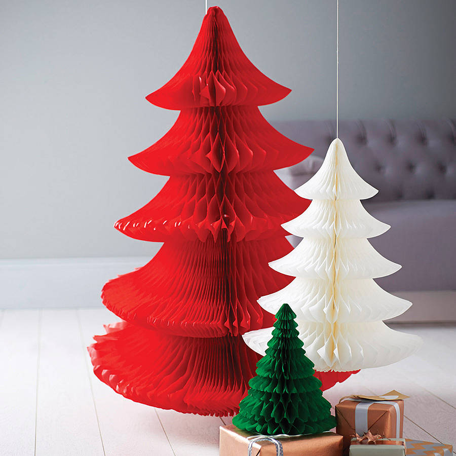 Paper tissue snowflake christmas decorations - Paper Christmas Decorations Pearl And Earl Paper Christmas Tree Decoration By Pearl And Earl Download