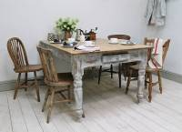 heavily distressed pine kitchen table by distressed but ...