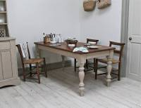 painted pine farmhouse kitchen table by distressed but not ...