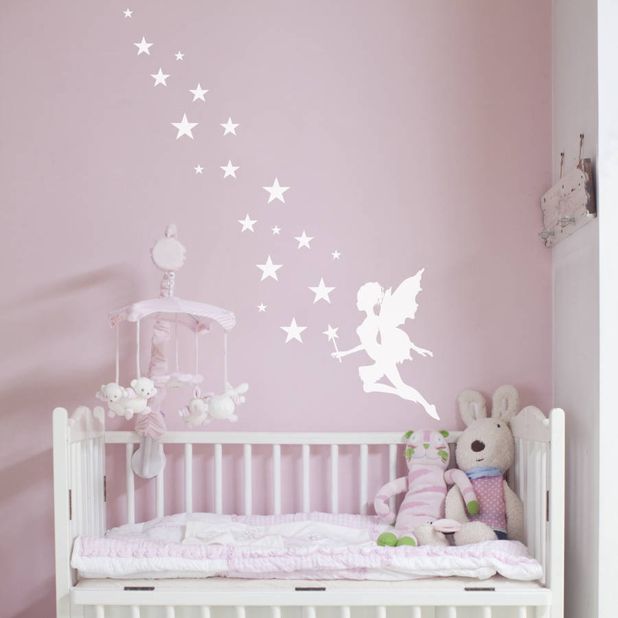 Pale Pink Wallpaper For Girl Nursery Fairy Magic Wall Sticker By Nutmeg Notonthehighstreet Com