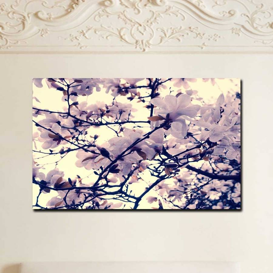 floral print ready to hang canvas wall art by ruby and b