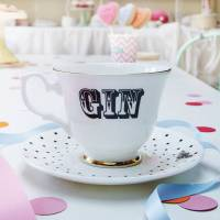 gin' tea cup and saucer by yvonne ellen ...