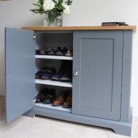 ashford slimline shoe cupboard in a choice of colours by