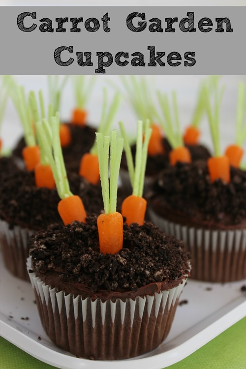 Pudding Filled Carrot Garden Cupcakes Recipe - {Not Quite} Susie
