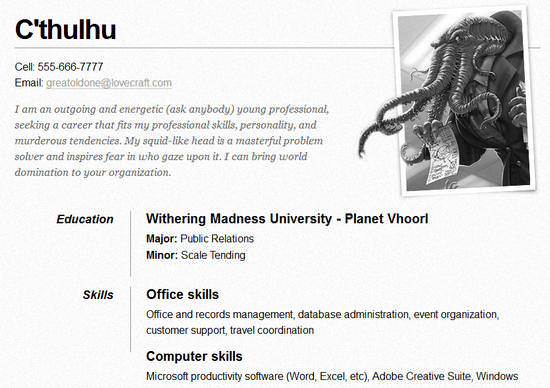 25 Free HTML Resume Templates for Your Successful Online Job - one page resumes